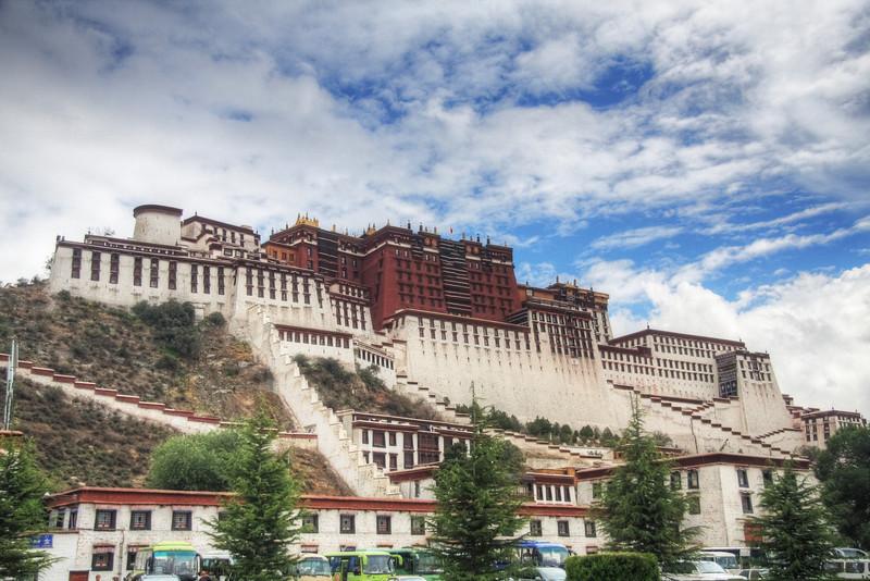 The Potala Palace, Lhasa: The former home of the Dalai Lama.