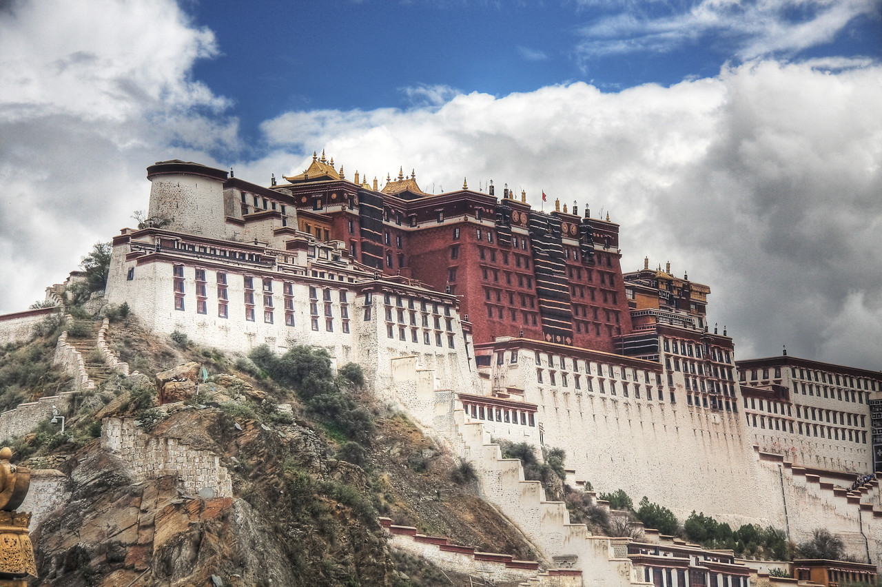 The Potala Palace, Lhasa: The former home of the Dalai Lama. (HDR Image)