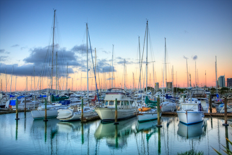 Auckland, New Zealand: Harbour (HDR)