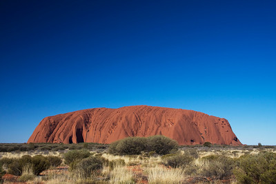 Uluru is an isolated, awe-inspiring place in the middle of the Australian Outback.