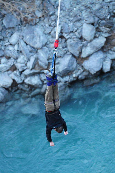 Bungy Jumping at the Kawarau Bridge near Queenstown, New Zealand: Daring/Crazy/Thrilling?