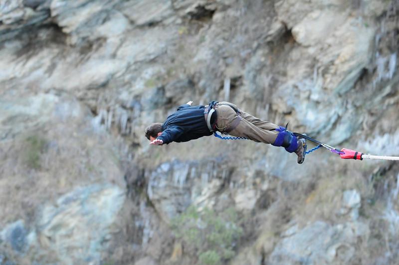Bungy Jumping at the Kawarau Bridge near Queenstown, New Zealand: Daring/Crazy/Thrilling?