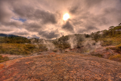 Rotorua, New Zealand (HDR) Rotorua is a geothermal wonderland in the center of North Island, New Zealand.