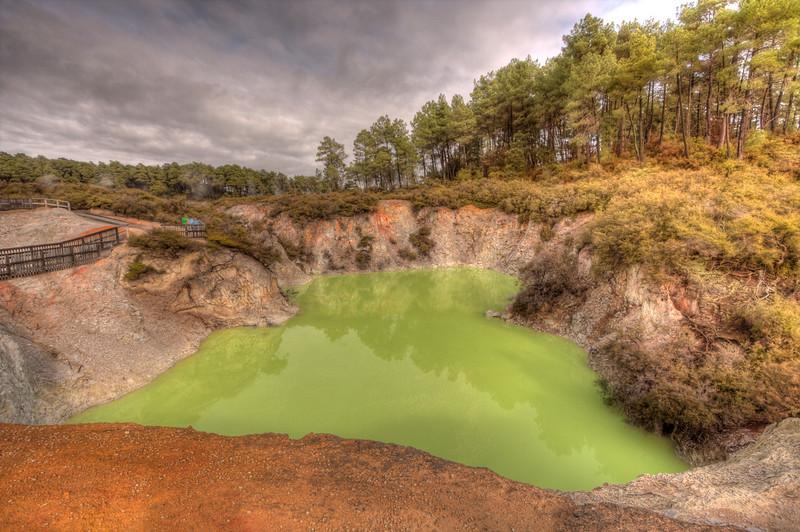 Rotorua, New Zealand (HDR) Rotorua is a geothermal wonderland in the center of North Island, New Zealand.