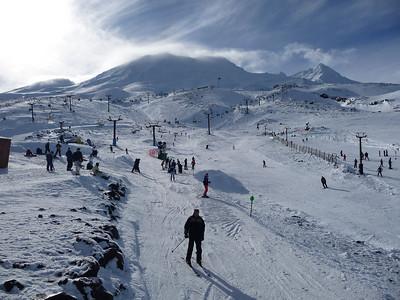 Turoa Ski Fields Turoa Ski Field boasts the largest vertical drop in New Zealand.