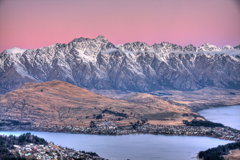 Queenstown, New Zealand (HDR)<br /> Queenstown, New Zealand bills itself as the adrenaline capital of the world.  I must concur.
