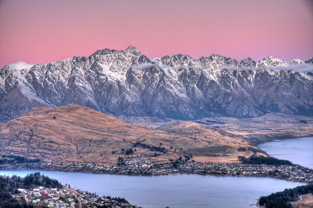 Queenstown, New Zealand (HDR)<br /> Queenstown, New Zealand bills itself as the adrenaline capital of the world.  I must concur.