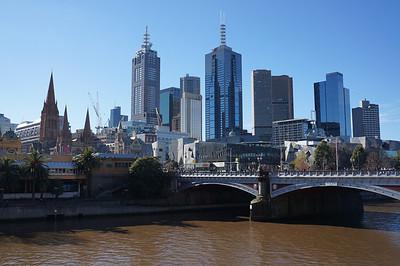 The skyline of Melbourne, Australia