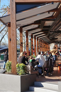 Cafe along the south bank of the Yarra River in Melbourne.