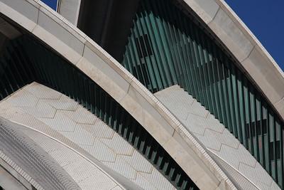 "Sydney, Australia: The ""sails"" of the Sydney Opera House."