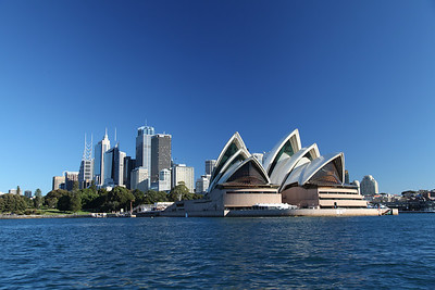 Sydney, Australia: The Opera House and the CBD.