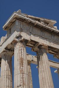 Detail of the Parthenon. Athens, Greece.