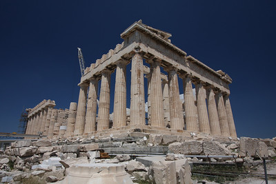 2,000 years old, and still standing. The Parthenon of Athens, Greece.