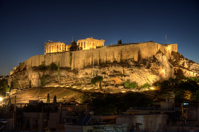 The Golden Acropolis. Athens, Greece (HDR)
