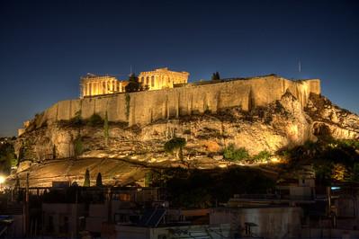 The Golden Acropolis. Athens, Greece (HDR)