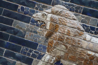 Detail of the Ishtar Gates. Pergamon Museum.