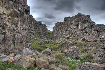Pingveller National Park; where North American and Europe meet (or pull apart). Central Iceland (HDR)