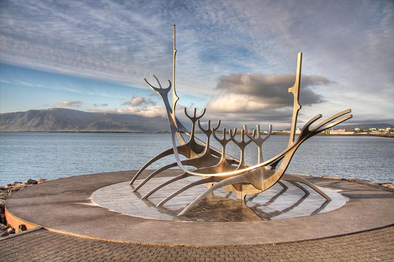 The Sun Voyager. Reykjavik Iceland (HDR)