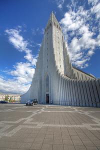 Hallgrimskirkja. Reykjavik, Iceland (HDR)