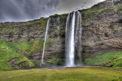 Waterall along Route 1 - The Ring Road - South Iceland (HDR)