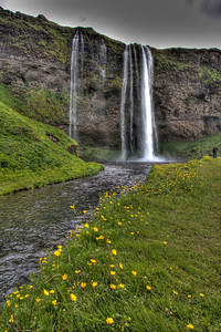 Waterfall. South Iceland (HDR)