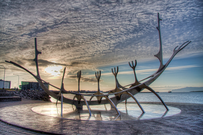 The Sun Voyager. Reykjavik, Iceland (HDR)
