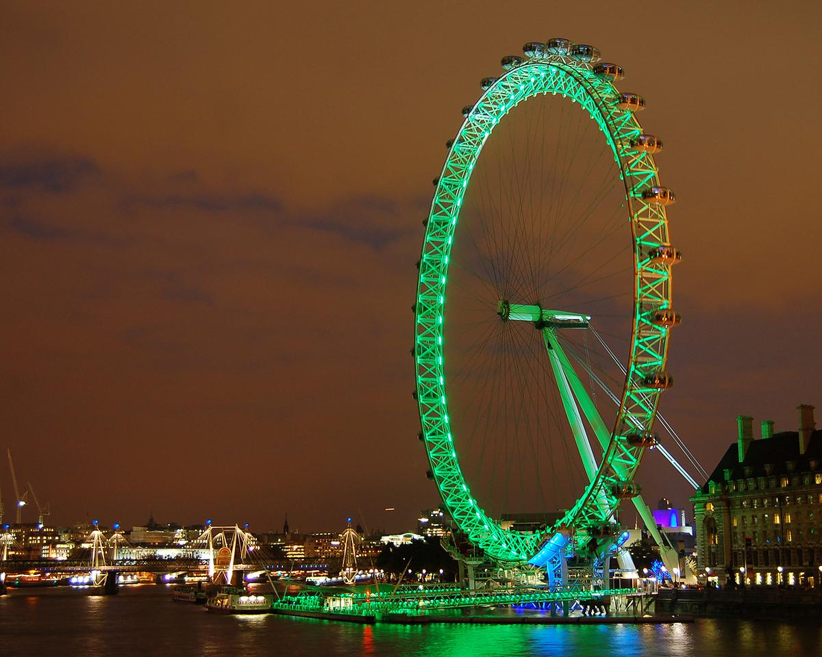 Green Eye at Night