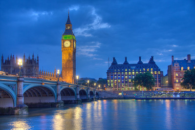 Big Ben in Blue. London, England (HDR)