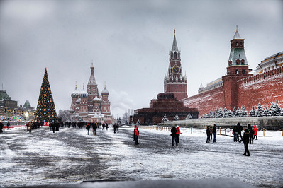 Winter in Russia! Moscow's Red Square on New Year's Day 2012. (HDR)