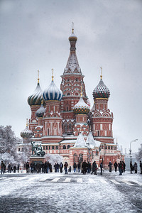 THE icon of Russia, and, perhaps, the most beautiful building in the world. St. Basil's Cathedral is most captivating under a fresh layer of snow. Moscow, Russian Federation (HDR)