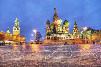 The south side of Red Square, Moscow, Russian Federation. (HDR)