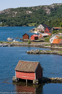 Boathouses at Åfjorden