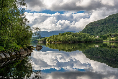 Refelections at the fjord