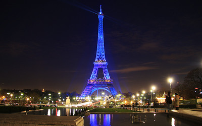 Paris in Blue: Le Tour Eiffel, Paris, France