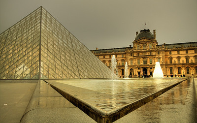 Glass, Steel, & Stone: The Louvre (HDR Image)