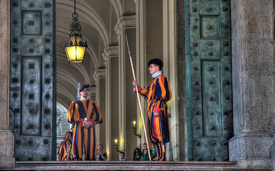 The Swiss Guard, Vatican City (HDR Image)