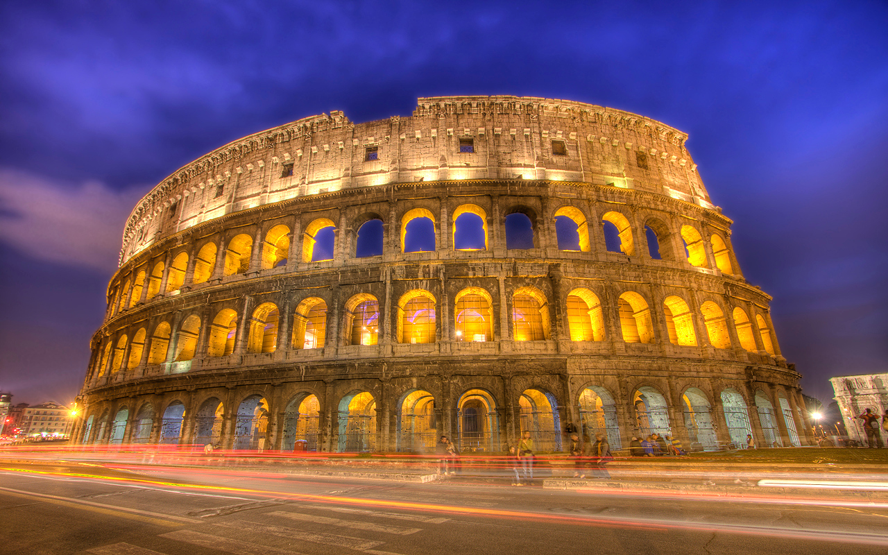 """""""Electric Colosseum"""" Rome, Italy (HDR)"""