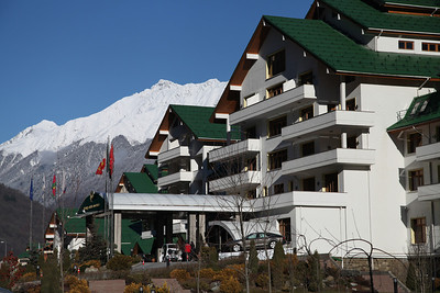 The Grand Hotel Polyana, Krasnaya Polyana, Russia. Host to the 2014 Winter Olympic Games.