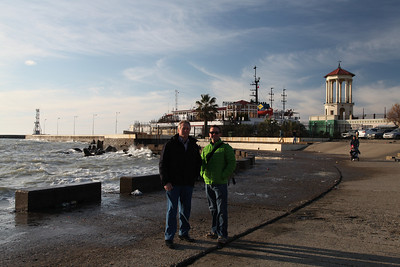 Family portrait. The edge of the Black Sea, Sochi, Russia.