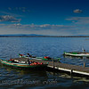 Tourist boats at Parque Natural de La Albufera just south of Valencia.