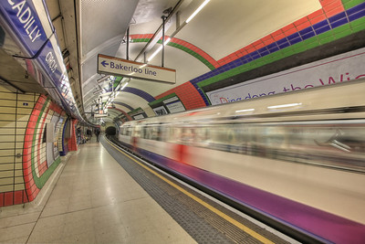 The Pulse of the Picadilly Line. London Underground, London, UK (HDR)