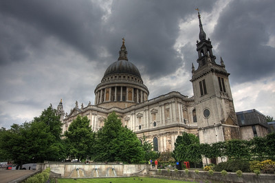 St. Paul's Cathedral. London, UK (HDR)
