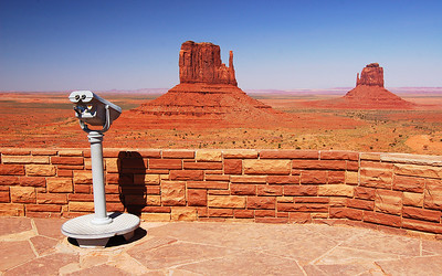 The visitors center at Monument Valley, Utah, USA.