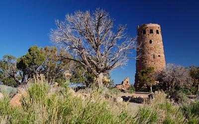 The watchtower; southeast rim of the Grand Canyon, Arizona, USA.