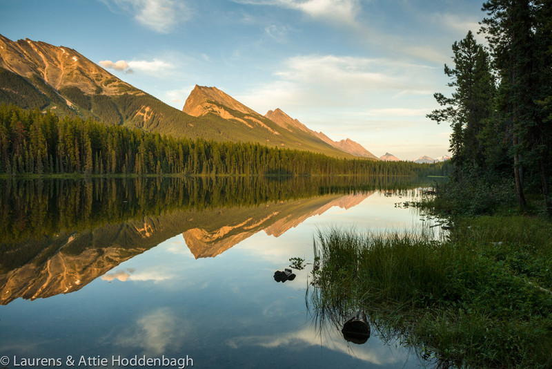 Sunset at Honeymoon Lake, Jasper Nat'l Park, Alberta, CA