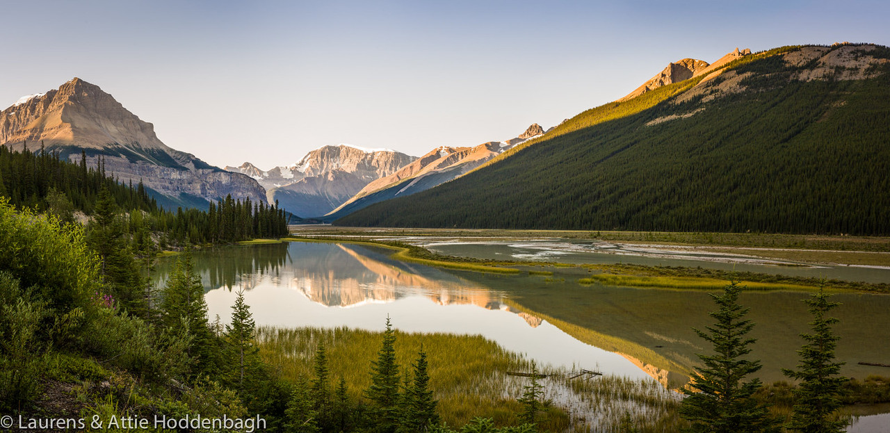 Mount Athabasca from Icefields Parkway, Sunwapta River, Jasper Nat'l Park, Alberta, CA