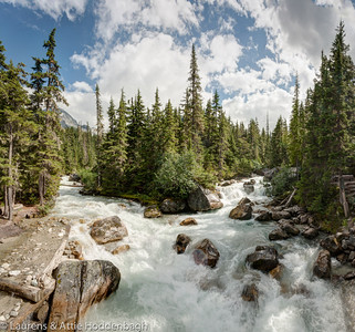 Meeting of the waters, Glacier national Park, BC, CA