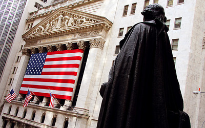 George Washington & the New York Stock Exchange, New York City, USA