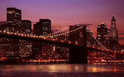 The Brooklyn Bridge, Brooklyn, New York, USA
