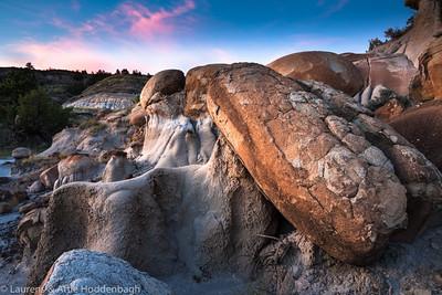 Makoshika State Park, Montana, North America at sunset  Filename: CEM009655-MakoshikaSP-MT-USA.jpg